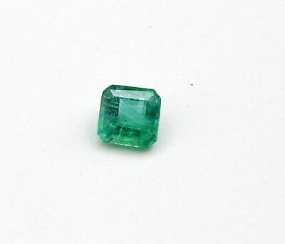 0.59 CT Small Natural Emerald Loose Octagon Cut Gemstone