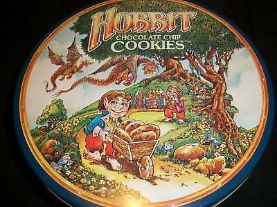 The Hobbit Cookies Tin Vintage Collectible LOTR