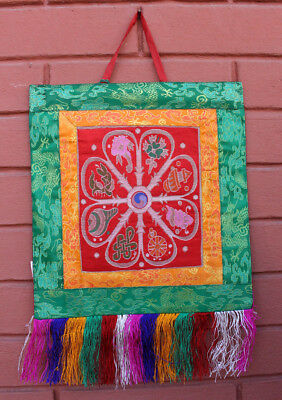 Brocade Framed Mandala Wall Hanging Banner