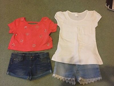 Two Girls Summer Sets Size 7/8  ( Target And Mango)