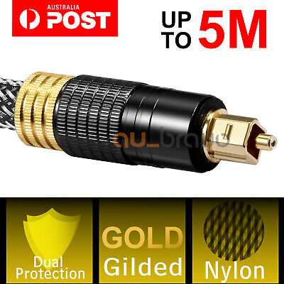 Premium Gold Plated Toslink Optical Fiber Audio Cable SPDIF Surround Sound AU