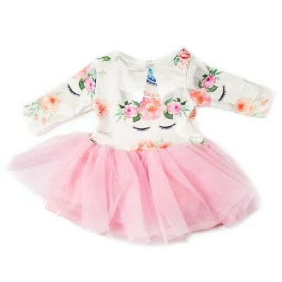 Doll Clothes Unicorn Tulle Dress  for 18inch Girl My Life Dolls