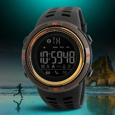 SKMEI Fashion Men's Smart Watch Bluetooth Digital Sports Waterproof Wrist Watch