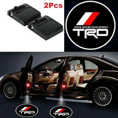 2x TRD Car Door Welcome LED Lights Courtesy Projector Ghost Shadow Sticker