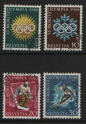 Switzerland  SG 481-484  1948 Fifth Winter Olympic Games set Very Fine Used