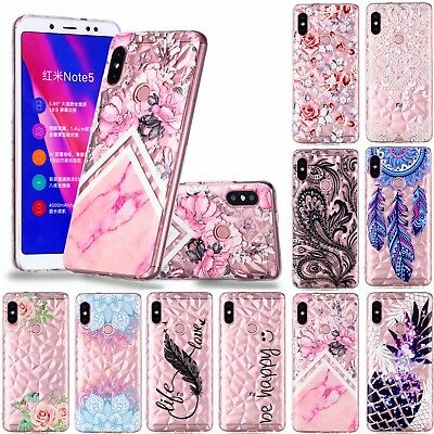 For Xiaomi Redmi 6A 5Plus Note 5 6 Slim Soft Silicone 3D Painted TPU Case Cover