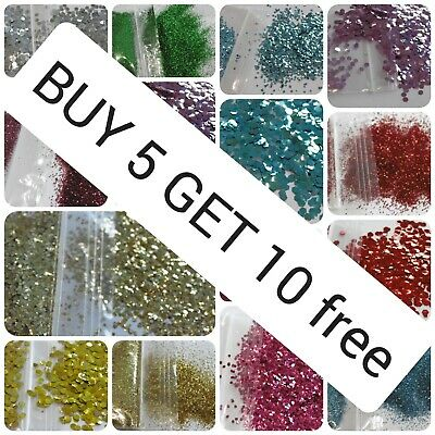 Biodegradable Glitter Cosmetic Bio Eco Chunky Dust buy 12 bags from £6.20