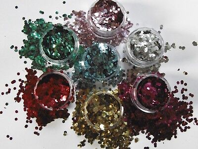 Biodegradable Glitter Pots Eco Friendly Cosmetic Chunky Dust Bio Degradable