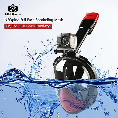 NEOpine Full Face Snorkeling Mask Water Sports Anti-fog Panoramic Diving Set