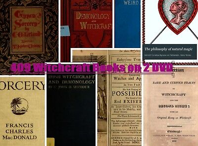 WITCHCRAFT WICCA PAGAN WITCHES MAGIC Demonology OCCULT - 409 RARE OLD BOOKS  DVD