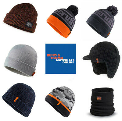 Scruffs Mens Vintage Bobble Beanie Hat Warm Work Winter Knitted Wooly Thermal