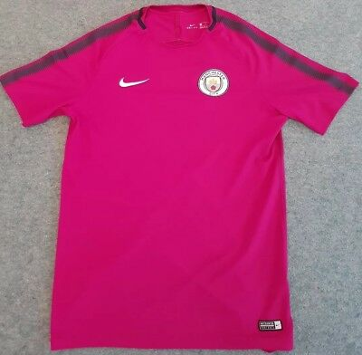 MANCHESTER CITY OFFICIAL17/18 NIKE TRAINING TOP- Large mens