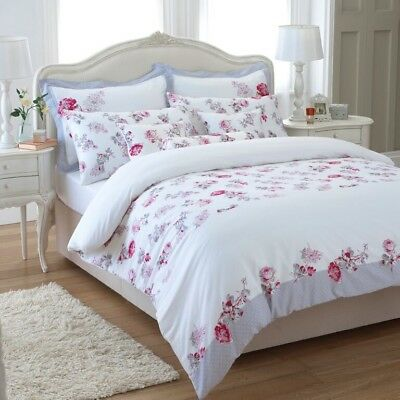 Great Knot Egyptian cotton Floral Busy Lizzie Red Housewife Pillowcases