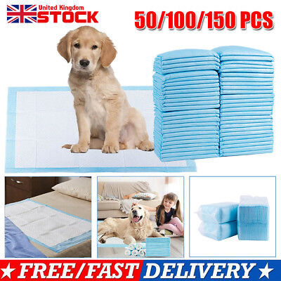 150Pcs Puppy Pads Dog Pet Toilet House Training Wee Potty Pee Mats Cat Poo XL