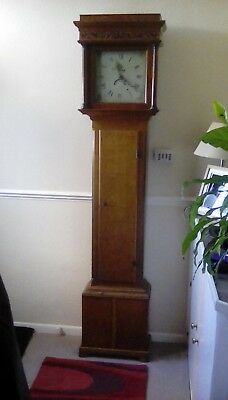 Long case clock made by Geo Hill 1700's needs attention