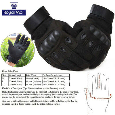Tactical Hard Knuckle Gloves Man's Army Military Combat Airsoft Hunting Shooting