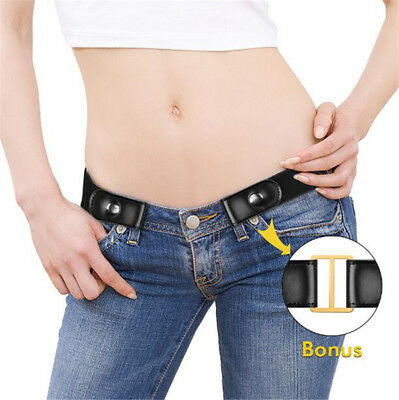 Buckle free Elastic Unisex Invisible Belt for Jeans No Bulge Hassle Comfortable