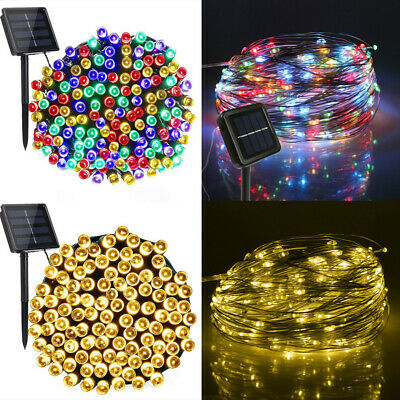 200-50LED Solar Power Fairy Lights String Garden Party Wedding Xmas Tree Decor