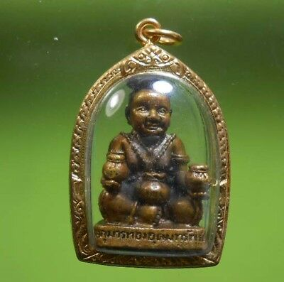 Real Rare Ku Man Thong Old Thai Amulet Wealth And Luck !!!