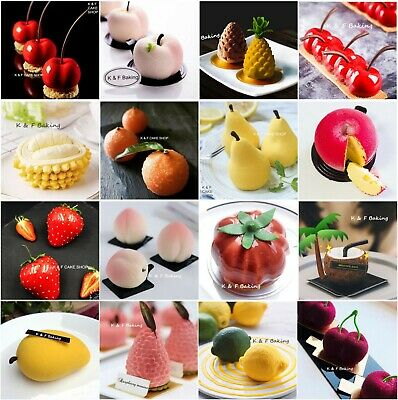 Fruit Baking Mould Art Silicone Mold Bakeware Mousse Cake Chocolate Pudding Mold