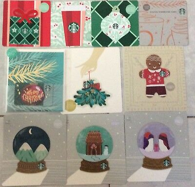 Lot10 Starbucks CHRISTMAS 2018 gift card / greeting card & die cut set NEW