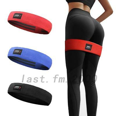 3 size Pro HIP CIRCLE Glute Resistance Band Rotation Exercise Strength Band AU