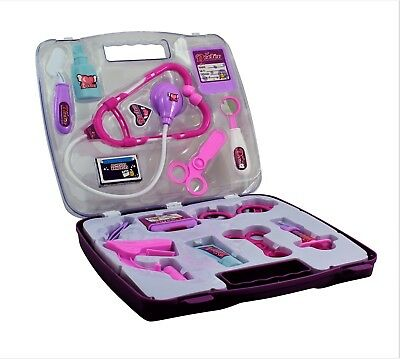 Kids Children's Purple Doctors Set Toddler Infant Nurses Play set Christmas Gift