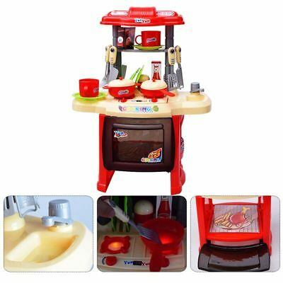 Kids Children's Red Kitchen Play set Cooking Toddler Infant Baby Toy Gift Xmas