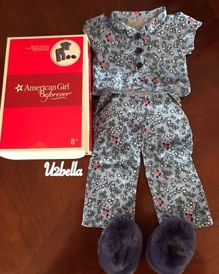 American Girl Doll Molly Pajamas P.J's New In Box Beforever