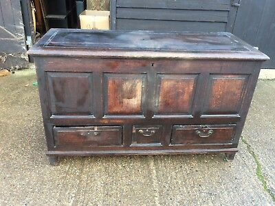 Old English 17th/18th Century  Mule Chest/Blanket Box/Coffer/Storage Box