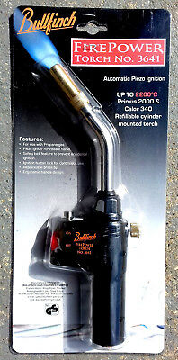 Bullfinch Firepower 3641 Propane gas plumbers torch for Calor 340 / Primus 2000