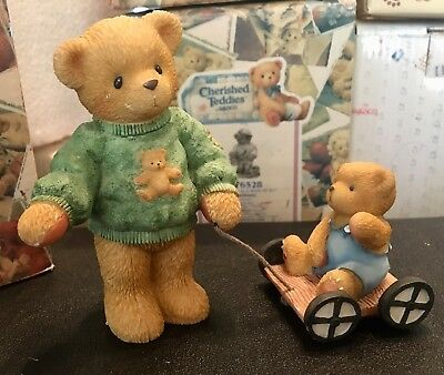 "Cherished Teddies Russell And Ross ""Thanks For Teaching Me"" 661783 GR8 🎄🎁!"