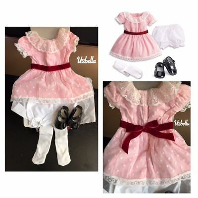 American Girl Samantha Meet Outfit Samantha's Beforever Dress Complete Pink