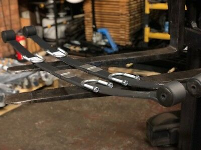 "Lowered Ford Transit Single Leaf Springs 2014On 60Mm Wide Custom - Pair 4"" Lower"