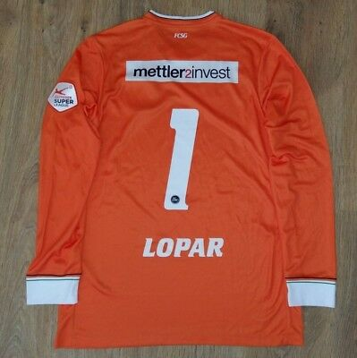 St. Gallen Switzerland rare #1 Lopar GK Goalkeeper match worn shirt size M