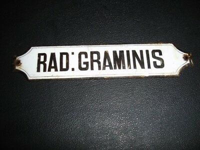 chemist enamel drawer label