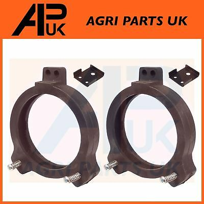 PAIR David Brown 770 780 880 885 Tractor Head Light Lamp Rubber Mounting Cowls