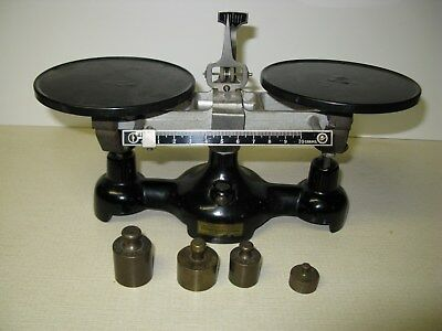 Vintage W.M. WELCH Scientific Co. Balance Beam Scale, Excellent Condition, 10 oz