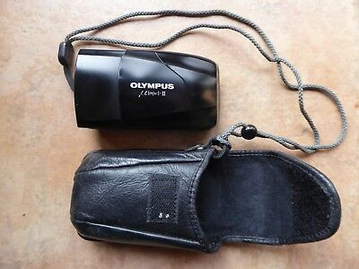 OLYMPUS MJU ll ULTRA COMPACT 34mm CAMERA AND CASE