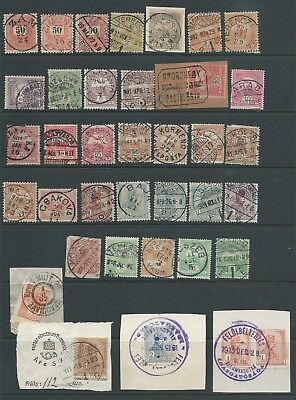 Hungary Interesting Lot Early Postmarks For Research