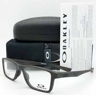 126f1c8c83 NEW Oakley Fin Box RX Prescription Frame Woodgrain OX8108-0353 8108 wood  53mm