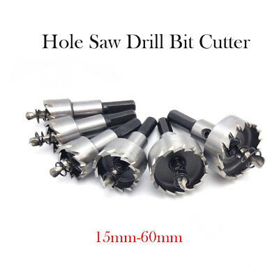 New 15mm to 60mm HSS Hole Saw Tooth Drill Bits Holesaw Cutter for Steel Metal UK