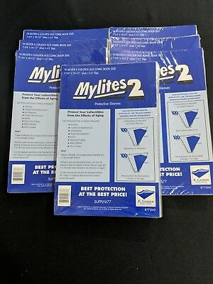 350 E. Gerber Mylites 2 Mil Mylar  Silver & Golden Age Comic Book Sleeves 775M2