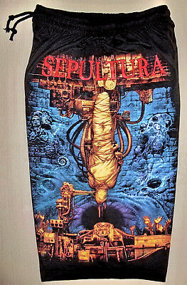 Sepultura Chaos AD Cotton Shorts Sweatpants Free Size New! Heavy Metal Band