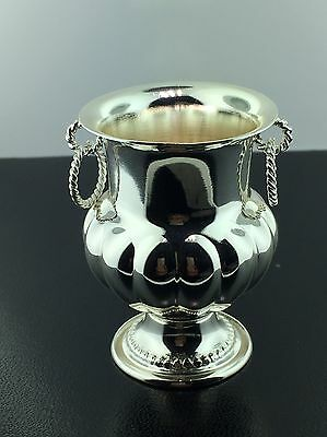 Vintage coin silver miniature urn collectible