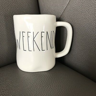 *HTF*NEW* Rae Dunn WEEKEND Long Letter Mug by Magenta