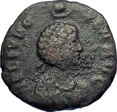EUDOXIA crowned by manus Dei 400AD Ancient Rare Roman Coin Hand of God i73677