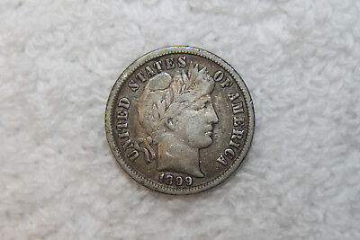 1899  Silver Barber Liberty Dime