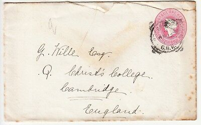 Cape of Good Hope: QV Embossed 1d Cover-Christ Church, Cambridge, 4 May 1901