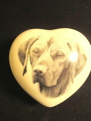 Wonderful Porcelain Vizsla Heart Shaped Box
